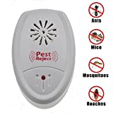 TKOOFN Ultrasonic Pest Reject Repeller - Repels Rodents And Insects Electro magnetic Mosquito Killer Insect Mouse Repellent