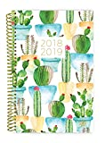 bloom daily planners 2018-2019 Academic Year Day Planner - Monthly and Weekly Datebook/Calendar Book - Inspirational Dated Agenda Organizer - (August 2018 - July 2019) - 6'' x 8.25'' - White Cacti