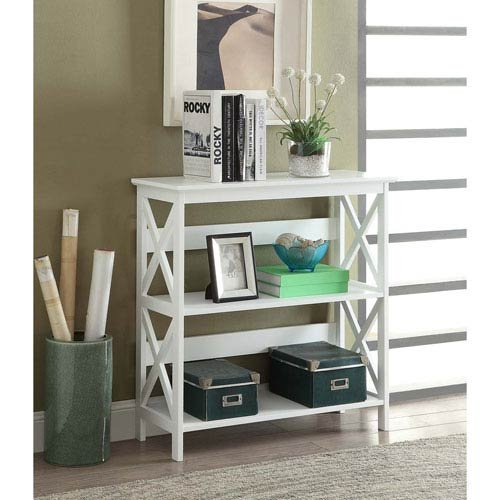 Convenience Concepts 203030CH Oxford Bookcase, Cherry/Black