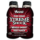 Ansi Xtreme Shock Energy Drink, Fruit Punch, 4 Count