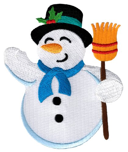 - Snowman Patch Embroidered Iron-On Christmas Frosty Winter Holiday Applique