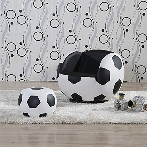 AINIYF Lazy Couch Children's Football Chair Armchair Sofa and Stool Sport Theme (Color : B2)