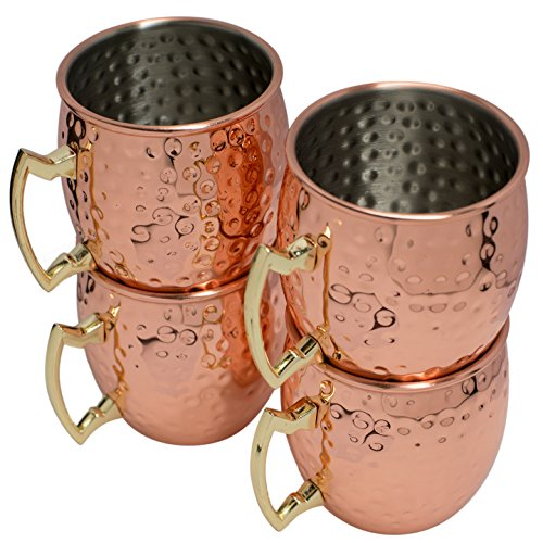 Moscow Mule Hammered Copper Drinking Cup - Set of 5 by BonBon (Image #3)