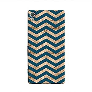 Cover It Up - Brown Blue Tri Stripes Xperia Z2 Hard case