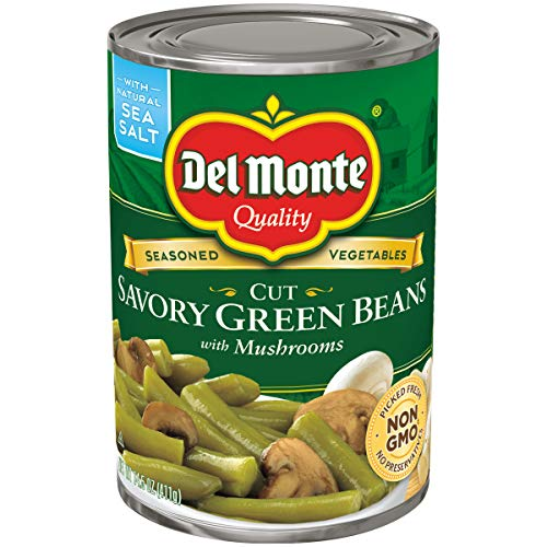Del Monte Cut Savory Green Beans with Mushrooms, 14.5 Ounce
