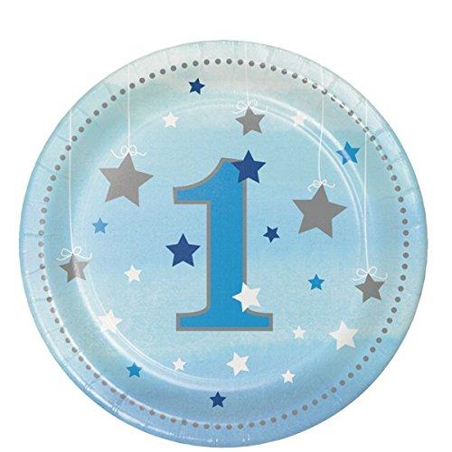 Creative Converting 322230 Twinkle One Little Star Boy 1st Birthday Dessert Plates 7