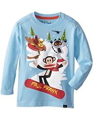 (55折)Paul Frank 大嘴猴 男童 Snowboard Julius 长袖 圆领 印花 T恤 $10.94