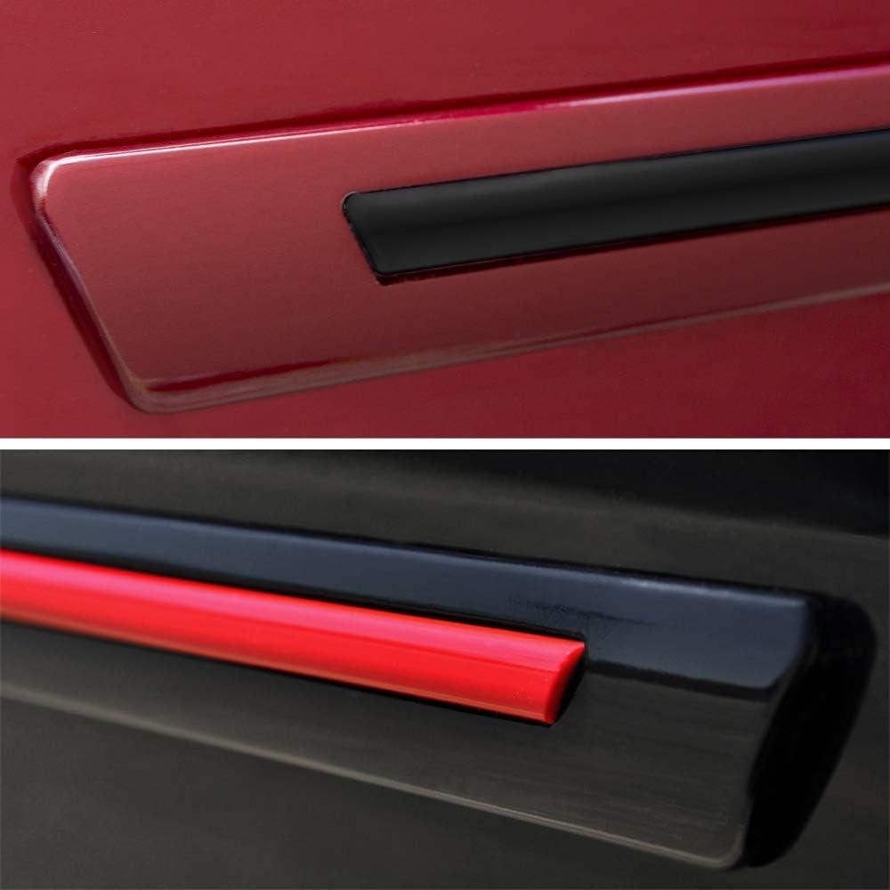 with Black Insert Dawn Enterprises CI-PRI10 Color Insert Body Side Molding Compatible with Toyota Prius 02 781 SEA Glass Pearl