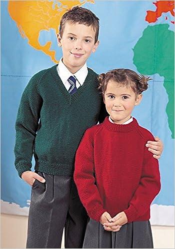 Stylecraft Knitting Pattern 4910 : Children's Classic School Sweaters (22-34in) (Stylecraft Special DK)