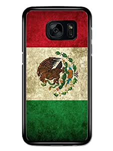 Mexican Eagle Snake and Cactus Flag of Mexico in Red White and Green carcasa de Samsung Galaxy S7