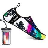 Bopika Barefoot Shoes Water Sports Shoes Quick-Dry Aqua Yoga Socks for Women Men Kids (M: (Women:7.5-8.5/Men:6-7), GC)