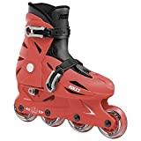Roces 400687 Model Orlando III Kids Inline Skate, US 4-7, Red