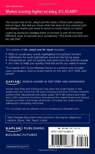Dr. Jekyll and Mr. Hyde: A Kaplan SAT Score-Raising Classic (Kaplan Test Prep) by Kaplan Publishing