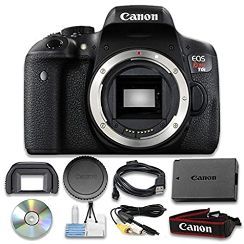 Canon EOS Rebel T6i Digital SLR (Body Only) - Wi-Fi Enabled International Version (No warranty) - Tube Red Filter