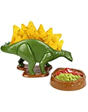 Barbuzzo NACHOsaurus Dip and Snack Dish Set - Epic Jurrasic Bowls for Chips, Popcorn, Candy, Pretzels, Nachos, Salsa, Guacamole and More - The Perfect Prehistoric Gift for Dinosaur Enthusiasts