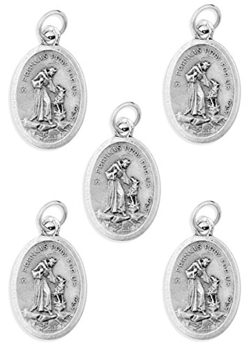 (Bulk Saint Francis of Assisi Medals - Pack of 5)