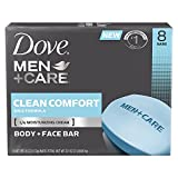 Dove Men+Care Body and Face Bar, Clean Comfort 4 oz, 16 BARS For Sale