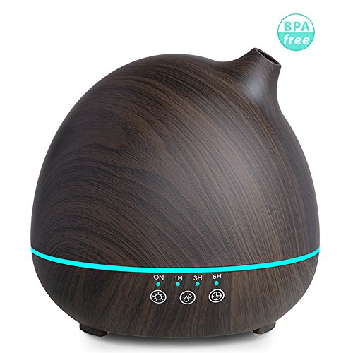 Price comparison product image Vaporizer Aroma Diffuser Aromatherapy Fragrance Diffuser Cool Mist Humidifier 400ml,Wood Grain Ultrasonic Essential Oil Diffuser,Touch Sensitive,Up to 12 Hours Use,Auto Shut Off,BPA Free - Amalfor