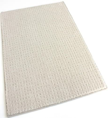 Koeckritz 12 x18 Ivory Indoor Cut and Loop Area Rug Carpet Many Sizes and Shapes with Premium Fabric Finished Edges