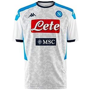 Ssc Napoli Italian Serie A Men's Replica Third Match Shirt, White, XXL