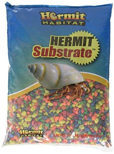 Hermit Habitat Terrarium Substrates, 5-Pound, Neon Rainbow by Hermit Habitat