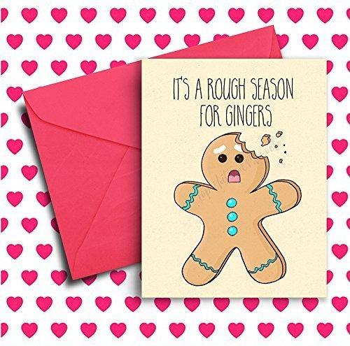 Handmade Funny Christmas Card Funny Gift Stuffer com Ginger Holiday Stocking Card Amazon