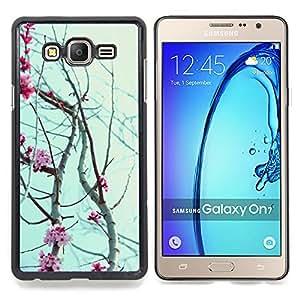 """Planetar ( Patrón Invierno Nevar"""" ) Samsung Galaxy On7 O7 Fundas Cover Cubre Hard Case Cover"""