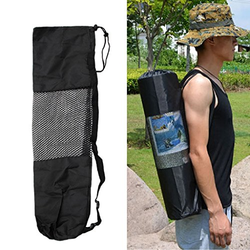 SCASTOE Adjustable Strap Nylon Yoga Pilates Mat Carrier Bag Mesh Center Case