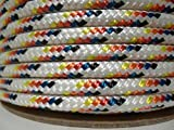 1/4'' x 300 ft. Double Braid Yacht Braid Polyester Sailboat Rigging Nautical Rope Spool. Valley Rope.
