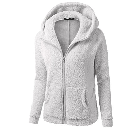 LuckyBB Outwear Zipper Light Coat Winter Sweater Women Hooded Cotton Warm Coat Gray Coat Ladies Wool 4H74rxqw
