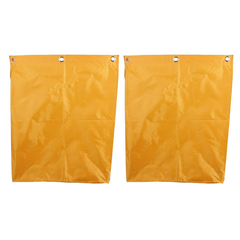gazechimp 2x Replacement Waterproof Bag For Janitorial Cleaning Cart Home Hotel Yellow