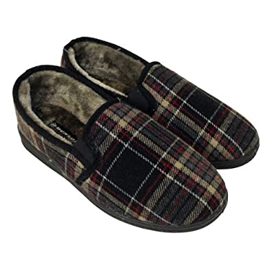Mens Boys Dunlop Classic Luxury Twin Gusset Slipper Gents Slippers Sizes UK  11
