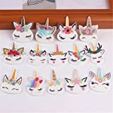 65 Pcs Mix Lots Unicorn Head Charm Unicorns Slime Beads Resin Animals Flatback Art Album Flat Back Phone Scrapbooking Hair Clip Hairpin Sewing DIY Craft Accessory Jewelry Decoration Dollhouse Ornament