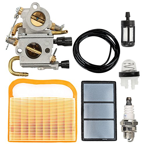 Butom TS420 TS410 Carburetor with Air Filter Tune Up Kit for STIHL TS410Z TS420Z Concrete Cut-Off Saw C1Q-S118 4238 120 0600 (Cut Saw Kit)