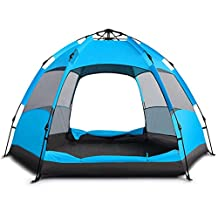Coleman Tent Automatic Tent Double-decker Multi-hexagon Tent 5 To 8 Man Festival Tent 100% Waterproof Family Camping Tent With Sewn In Groundsheet