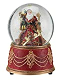 Roman Santa with Snowflakes Musical We Wish You a