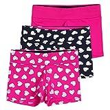 Lucky & Me Layla Girls Dance Shorts, Gymnastics & Dancewear, 3-Pack, Jazzy, 7/8