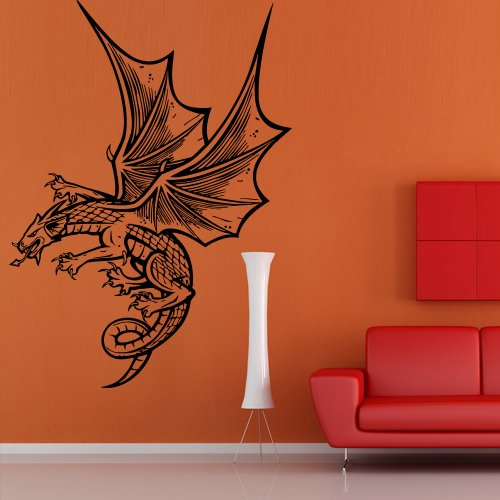 Lizards Mural - Wall Decal Dragon Reptile Fire Ancient Animal Wings Lizard Bedroom Mural M1066