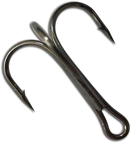 DONQL Fishing Hooks Treble Hook High Carbon Steel Treble Hooks Super Sharp Solid Triple Barbed Fish Hook