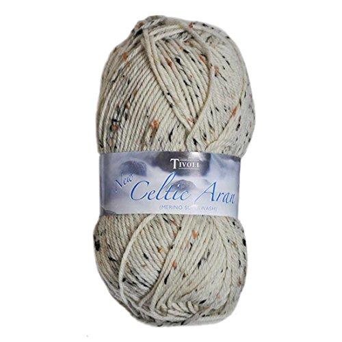 Merino Aran Yarn (Tivoli Merino Superwash Celtic Aran Wool, Fleck Design)