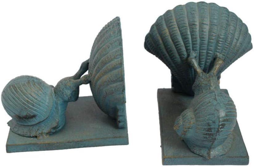 AIJOAN-BJ Estatua De La Escultura Estatua Animal Sujetalibros De Hierro Fundido Caracol Vieiras Sujetalibros De Metal Manualidades