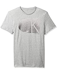 Men's Short Sleeve T-Shirt with Ck Stripe Logo