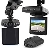 25'' LCD HD Dvr Recorder car detector Camera With Motion Detection 6 leds Night View dash cam Car DVR 120 Degree Angel SD Card