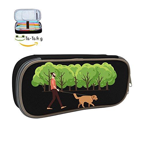 Frankenweenie Pet Costume (LinLoo Pencil Case Dog Custom Waterproof Multi-function Pen Bag Makeup Pouch with Big Capacity)