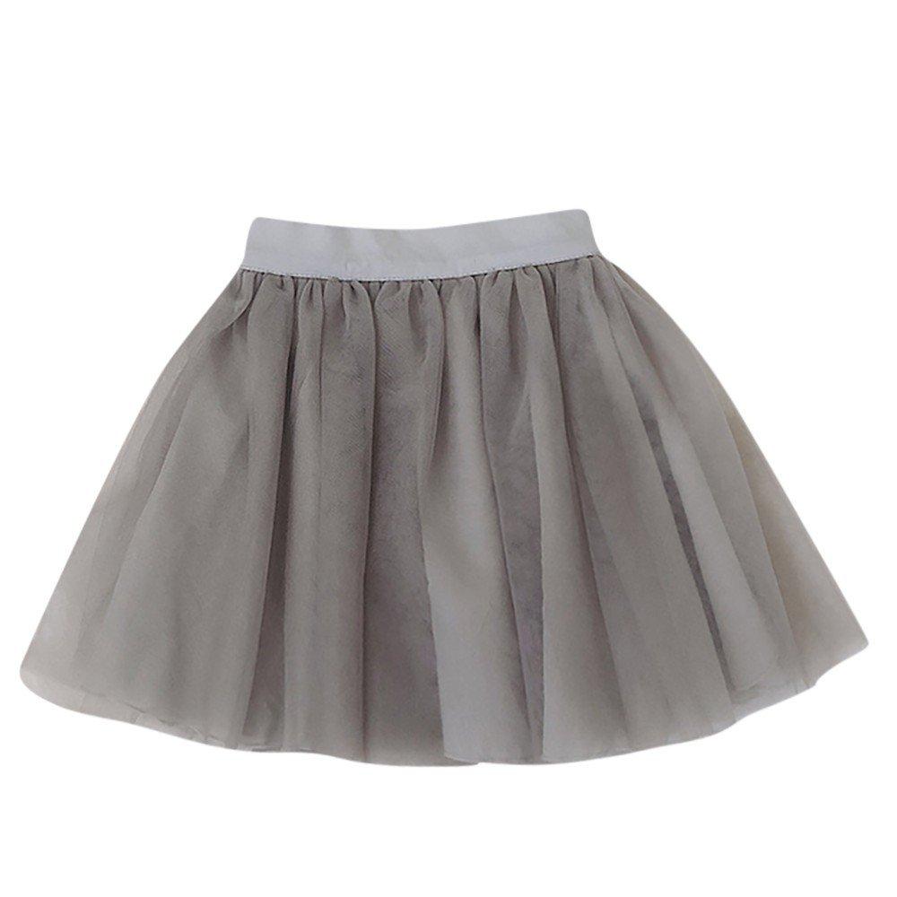Little Girls Sleeveless Floral Princess Dress Tulle Tutu Sundress Gray