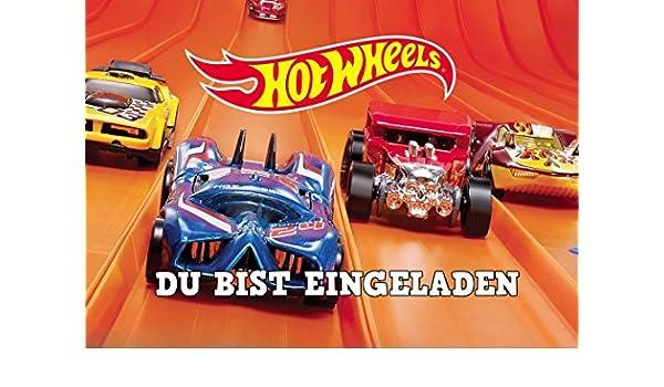 Ll Hot Wheels Tarjetas De Invitación Juego De 12 Incluye