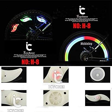 Bombilla para radios de bicicleta ICYCHEER 4 colores a elegir para seguridad y advertencia