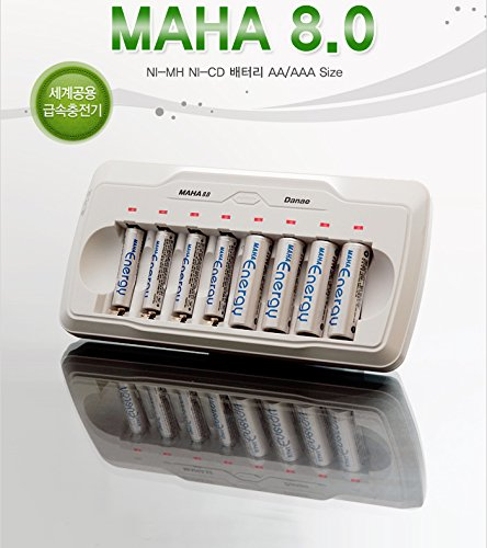 NEW MAHA 8 channel AA AAA Quick Charger for eneloop Battery NiMH NiCd -