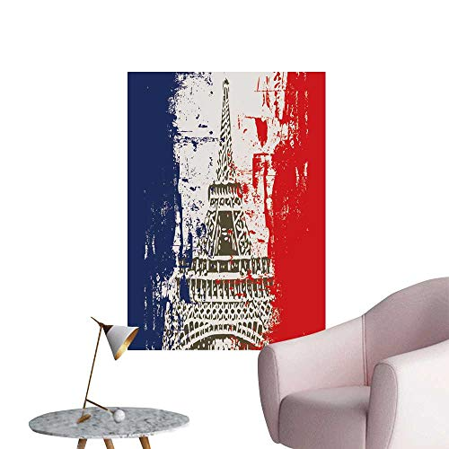(SeptSonne Wall Decorative French Flag Eiffel Tower Pictures Wall Art Painting,24