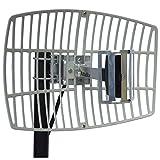 Altelix 2.4GHz 15dB WiFi Grid Antenna High Gain Directional Parabolic 15 dBi N Female Connector ( 2.4 GHz Wireless LAN and Video)